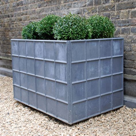 The Estate Lead Garden Planter Large Architectural Garden Planters