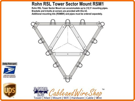 rohn rsl tower sector mount rsm section