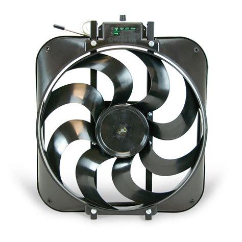flex a lite adjustable electric fan controllers flex a lite automotive 15 inch black magic s blade