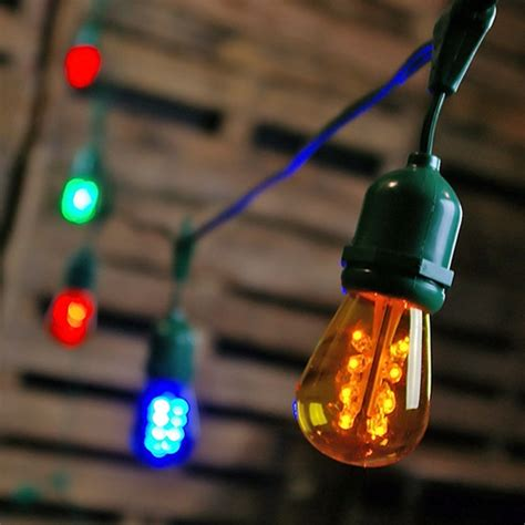 Led Edison String Lights by Commercial Led Edison Drop String Lights 100 Foot Green
