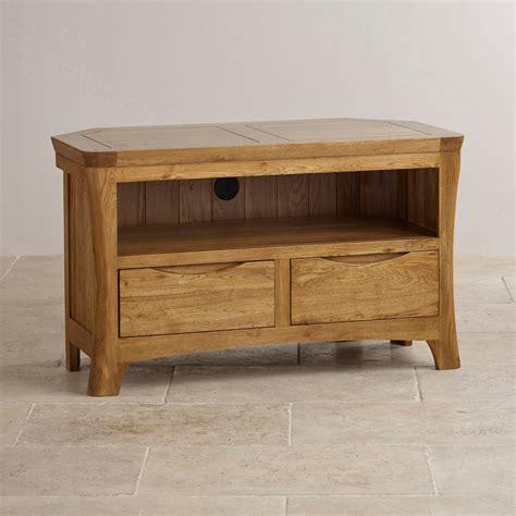 Orrick Corner Tv Cabinet In Rustic Oak Oak Furniture Land
