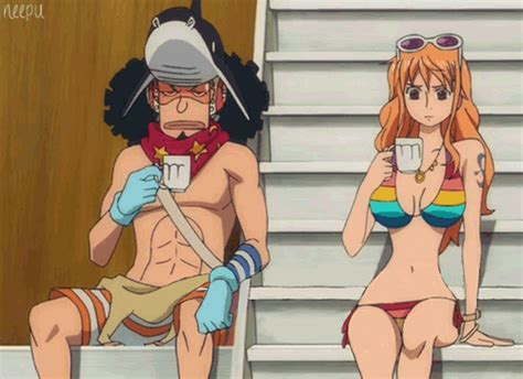 One Styling Gold 1 Usopp one nami gif find on giphy