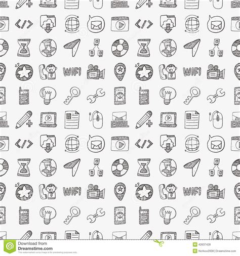 doodle viewer for bbm free doodle web seamless pattern stock vector image