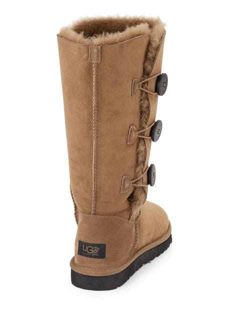 light brown uggs with buttons ugg boots bailey button brown
