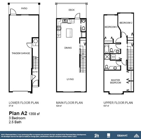 stacked townhouse floor plans stacked townhouse floor plans free home design ideas images