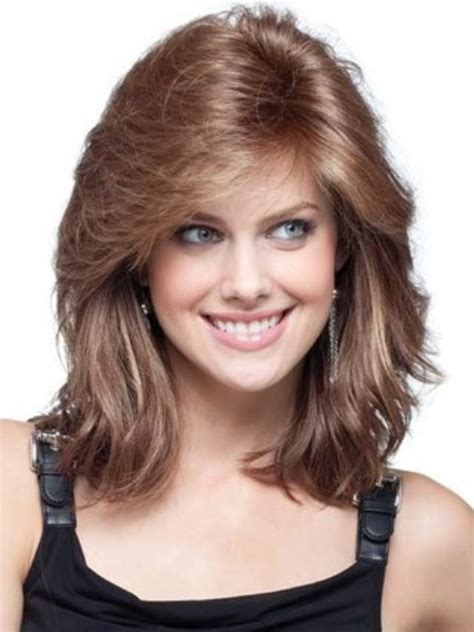 cute shoulder length haircuts longer in front and shorter in back medium length for fat faces short hairstyle 2013