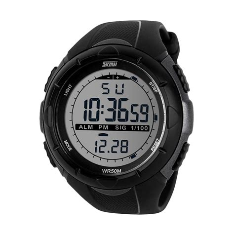 Jam Tangan Pria Skmei S Shock 1101 jual skmei 1025 s shock sport jam tangan pria hitam