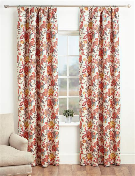 Marks And Spencer Floral Curtains Shopstyle Co Uk Panels