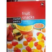 market pantry fruit snacks tropical calories nutrition