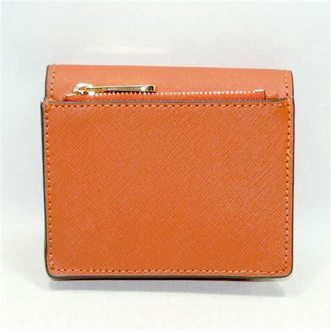 Michael Kors Small Wallet 3 michael kors jet set travel carryall card leather small wallet orange 32t6gtvd2l michael