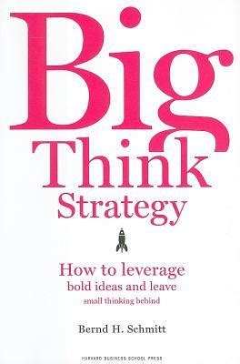 The Big Think Book big think strategy summary and analysis like sparknotes free book notes