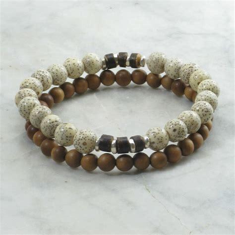 Savanna Bracelets for Men   lotus mala beads, mala bracelets stacks