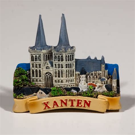 Souvenir Germany Magnet Kulkas Germany resin fridge magnet germany xanten cathedral xantener dom