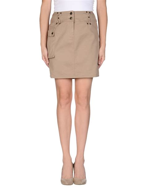 armani denim skirt in khaki lyst