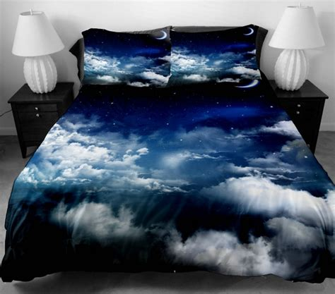 Cloud Bedding Set by Anlye Bedding Set For Home Decor 2 Sides Printing White Clouds Mass In The