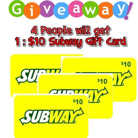 Subway Gift Card Giveaway - 17 best ideas about subway gift card on pinterest gift cards teacher gifts and