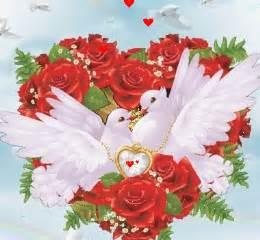 lmagenes de corazones en agua con rosas y aves imagenes de amor con movimiento bajar imagenes para