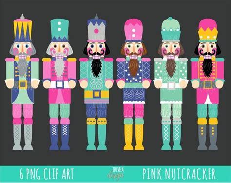 nutcracker clipart christmas clipart commercial  pink christmas pink nutcracker instant