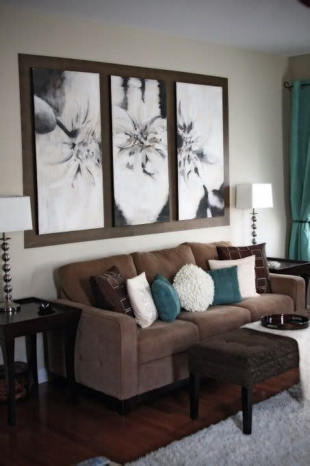 chocolate and turquoise living room 26 cool brown and blue living room designs digsdigs