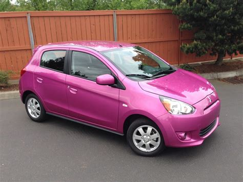 pink mitsubishi mirage 2014 mitsubishi mirage quick drive of a not so quick car