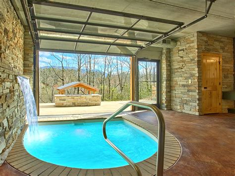 Gatlinburg Tn Cabins With Pools by Modern Cabin With Indoor Pool Spa Vrbo