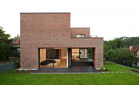 minimalist brick house impressive brick monolithic home with minimalist interiors podfuscak residence modern