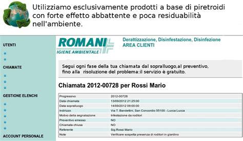 it area clienti registrati nell area clienti romani disinfestazioni srl