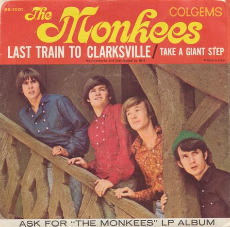 the last train to the monkees last train to clarksville take a giant step vinyl at discogs