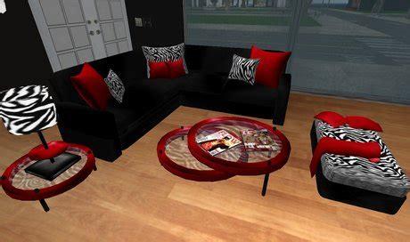 zebra print living room set second marketplace modern black and zebra print