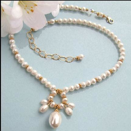 Handmade Pearl Necklace - creative image blogs unique handmade jewelry