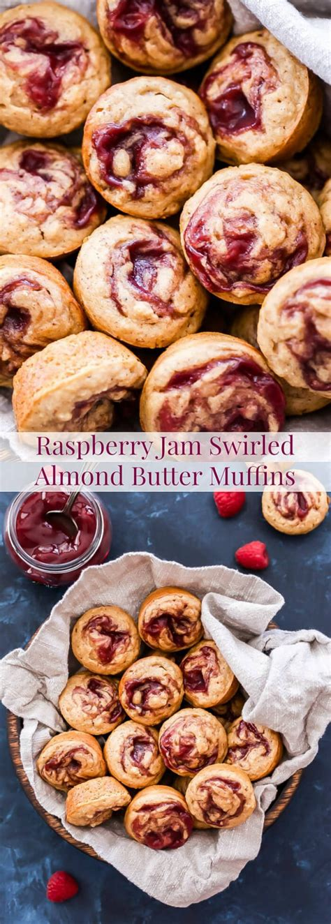 delighted today to have eight additional delicious muffins to raspberry jam swirled almond butter muffins recipe runner