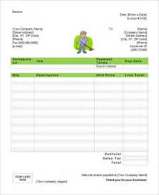 cleaning invoice template word microsoft invoice template 54 free word excel pdf
