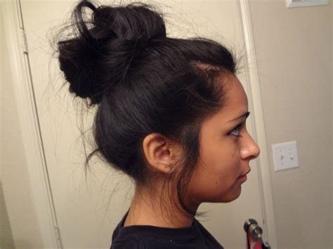 black hair buns high bun for girls with freaking long hair like me