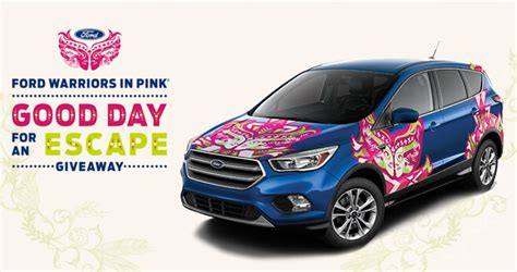 Warriors Giveaways - ford warriors in pink 2017 win a 2017 ford escape
