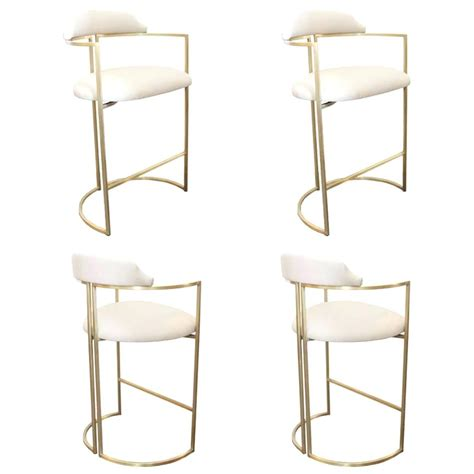 White Leather Bar Stools With Nailhead Trim by White Leather Bar Stools Kitchen With Gray Folio Top Grain