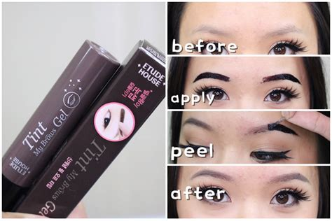 Eyebrow Etude House Tint My Brow Gel etude house tint my brows gel impressions demo