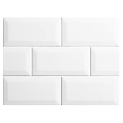 bevel brick white is a white gloss bevel edge wall tile by nori ceramic collection subway tile white gloss 3 quot x 6