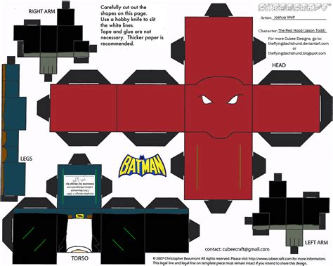Papercraft Batman - dc sh 6 the ii cubee by theflyingdachshund on