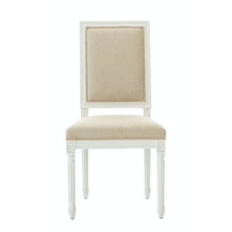 Home Depot Dining Chairs Home Decorators Collection Jacques Antique Ivory Linen Dining Chair Set Of 2