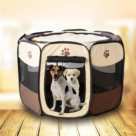 dog tent bed 90x60x36cm folding pet tent playpen dog bed fence puppy