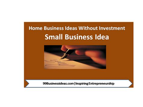 home based small business ideas service business ideas