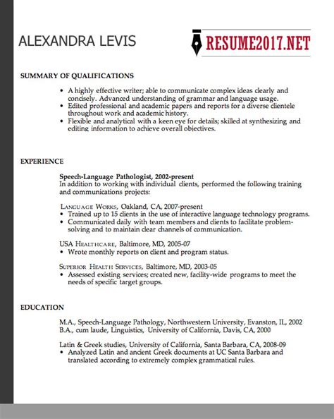 chronological resume format 2017 choosing a resume format 2017 useful tips