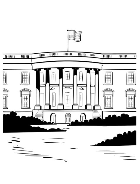 White House Home Page White House Coloring Pages For Coloring Home