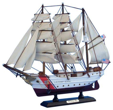 coast guard home decor uscg eagle 15 quot wooden model coast guard boat