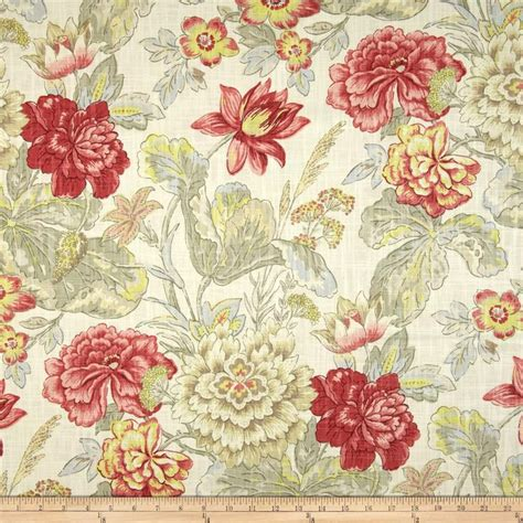 home decor print fabric waverly floral flourish clay jo ann 1000 images about fabrics for upholstery on pinterest