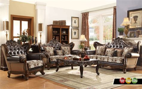 Ornate Living Room Furniture by Ornate Antique Style Provincial Traditional Brown Living Room Furniture Ebay
