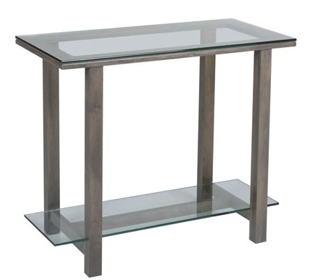 Hilton 296 Glass Top Sofa Table Ohio Hardwood Furniture