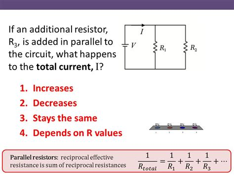 three resistors connected in parallel the individual voltages labeled chapter 25 electric circuits ppt