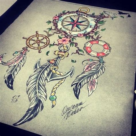 dreamcatcher compass tattoo neck 17 best images about tattoos on pinterest compass tattoo