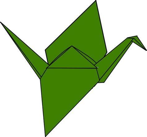 Origami Crane Clipart - crane clip at clker vector clip